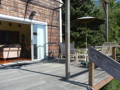 Large deck with outside dining