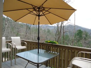 Bryson City cabin photo - view from deck to south