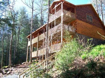 Blue Ridge cabin rental - What a View from the porches!