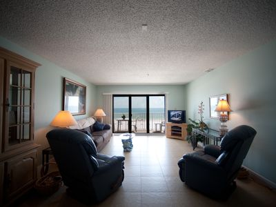 Madeira Beach condo rental - Looking at beach from living room