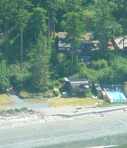 Aerial photo- very private 1 1/2 acre compound