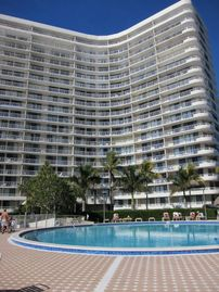 South Seas Club condo rental - View of Tower IV from swimming pool.