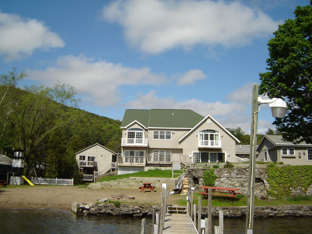 Luxury Lake George Lake Front Home Close Homeaway