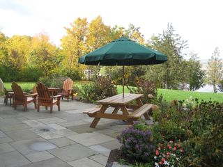 Addison house photo - Patio and lawn