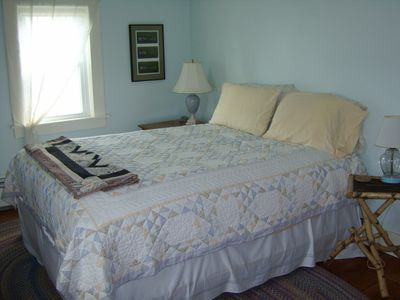 Belfast farmhouse rental - 2nd floor bedroom with queen size bed