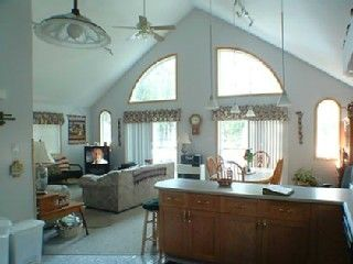 Naples cottage rental - Open view, Looks west to Lake