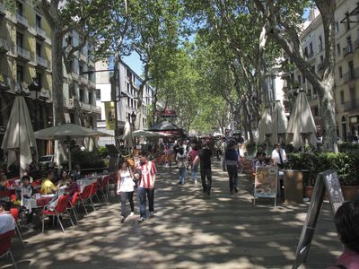Las Ramblas - just a few minutes' stroll away