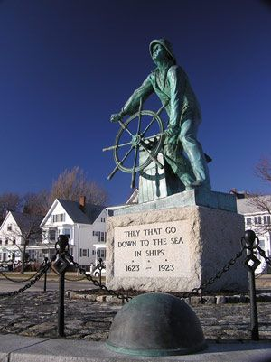 "Gloucester's famous ""Man at the Wheel"" Memorial."