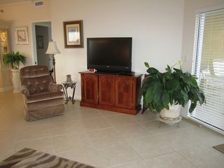Pensacola Beach condo photo - Living Room with Large screen HD TV