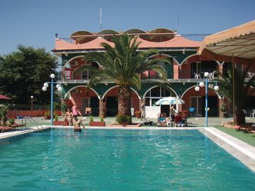 Agios Ioannis hotel rental - Swimming pool and front Studio & room balconies