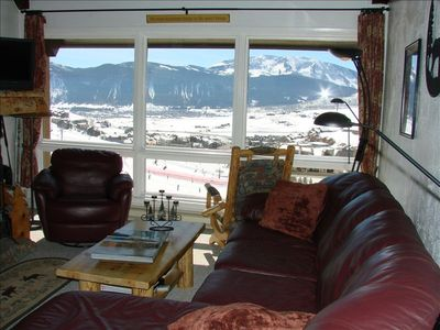 Living room with view of slopes