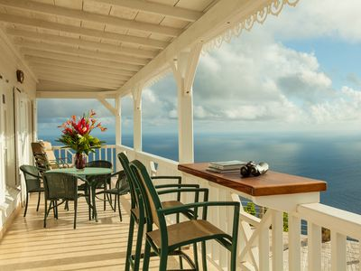 Spyglass is a Private Villa With 360 View Near Windwardside.