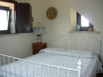 The double bedroom in the tower