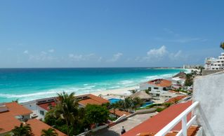 Cancun condo photo - view from terrace to club Med