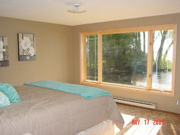Master Bedroom overlooks Lake Winnebago