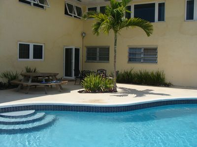 Grand Bahama Island condo rental - Back Door Opens Up To Pool Deck