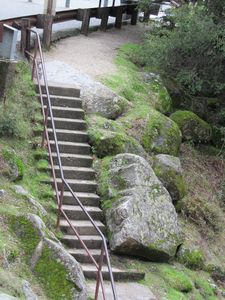Not at our cottage these steps lead to the Yuba river nearby