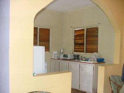 View of kitchen area