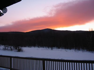 Jay Peak house rental - Sunset over Carlton Mtn on the Long Trail