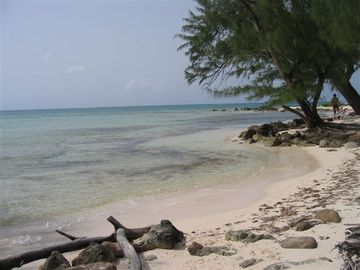West side of The Retreat's private beach.