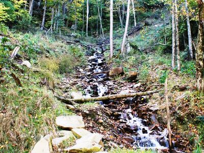 Maggie Valley chalet rental - Enjoy the soothing sounds of the Stream