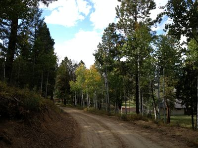 Private road to our ranch house!