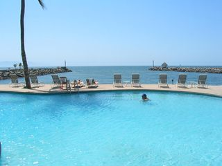 Nuevo Vallarta condo photo - Perfect swimming spot at this Two-Storey, Penthouse with huge rooftop patio!