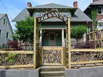 Asheville cottage rental - View of Front of our Cozy Cottage on Church Street