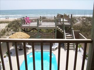 North Topsail Beach house photo - Pool and ocean view