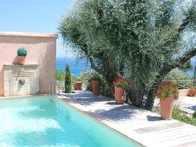 100 m from the sea, beautiful villa, panoramic sea view, private swimming pool