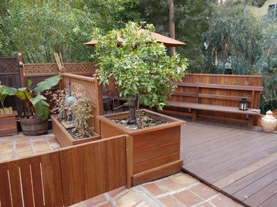secluded back deck areas