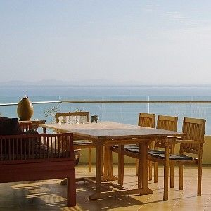Our spacious terrace with beautiful seaview