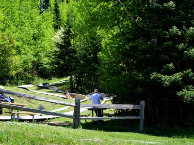 Kids of all ages will love the Alpine Slide just up Ski Hill road from our home.