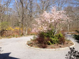 East Hampton house photo - View from front door in spring