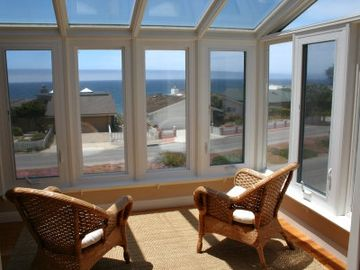 Cambria house rental - Sunroom (Second Level) - Panoramic Views of Ocean