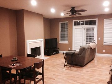 Indianapolis townhome rental - Living area