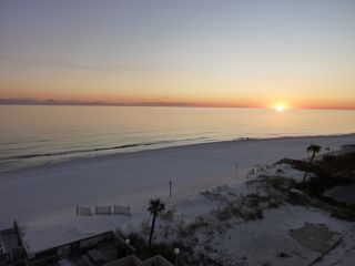 The fabulous sunset from our balcony. - Fort Walton Beach condo vacation rental photo