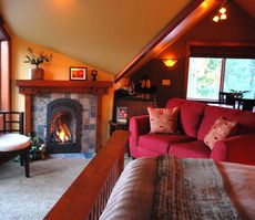 The Loft is a romantic and private Sequim Vacation Rental w/stunning water views