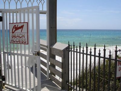 Frangista Beach condo rental - Ciboney's Private Gated Beach Walkover and Beach area. Key in unit.
