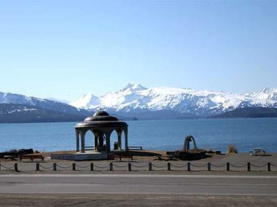View of Fisherman's Memorial on the Homer Spit