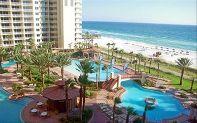 Shores of Panama condo rental - Pool view