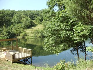 Branson cabin photo - Private fishing lake.