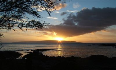 Kihei condo rental - Sunset over Kahoolawe
