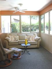 Winter Haven house photo - Screened Lanai with Central A/C overlooking pool & garden
