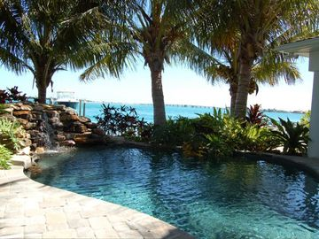 St Pete Beach house rental - Private Wading Pool and Waterfall
