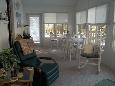 Gorgeous 3-season room. Enjoy your morning coffee or after beach cocktail here.