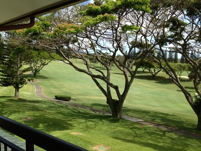 Our Villa's unobstructed view of the Kapalua Bay Course 10th Fairway.