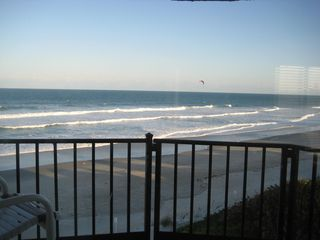 Melbourne Beach condo photo - Sun is setting from the Oceanfront balcony