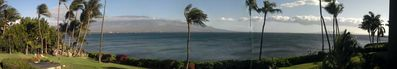 A panoramic view from your ocean front lanai.....imagine this all day long!