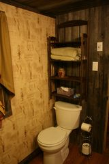 Clearfield cabin photo - Rustic barnwood bathroom